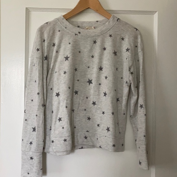 Gray star sweatshirt. Super soft. NWOT